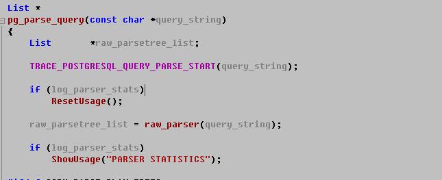 trace queries postgresql